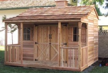 Turn your cedar shed into a cabin my little cottage - Turning a shed into a cabin ...