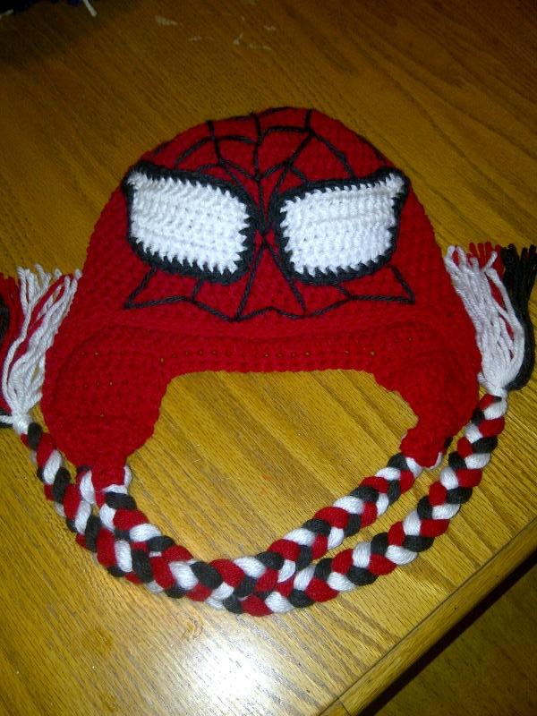 spiderman crochet hat my crochet portfolio Pinterest