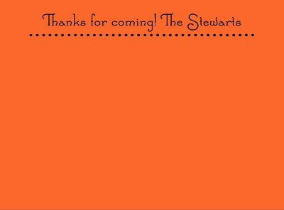 Bright Orange Dotted Line Note Cards