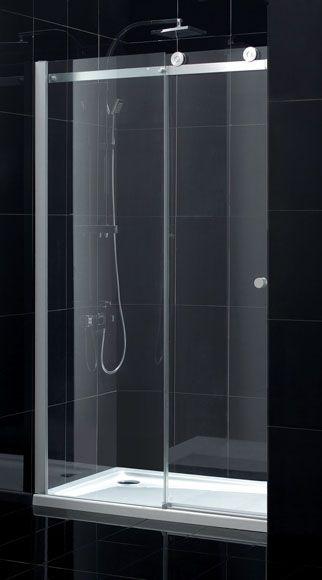 Imanes Para Mamparas Baño:Mampara de ducha Sensea Fabrik transparente cromo