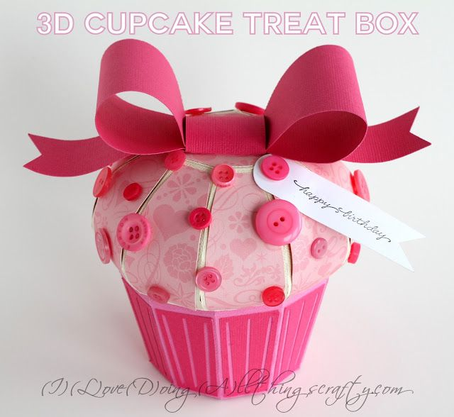 3D Paper Cupcake - Files from SVG Cuts - Cut on the Silhouette Cameo