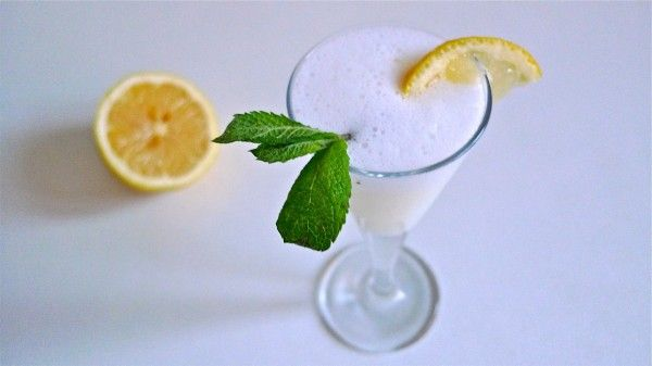 Sgroppino: made with lemon sorbetto, vodka and Prosecco sparkling wine