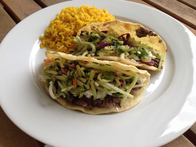 Crispy Black Bean Tacos with Feta and Slaw by The Home Cook, via ...