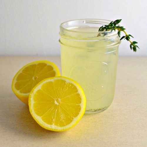 Thyme Lemonade HealthyAperture.com | New Year, New Food! | Pinterest