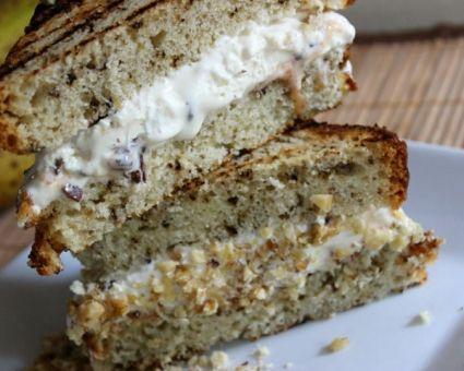 Grilled Banana Bread Ice Cream Sandwiches | Recipe