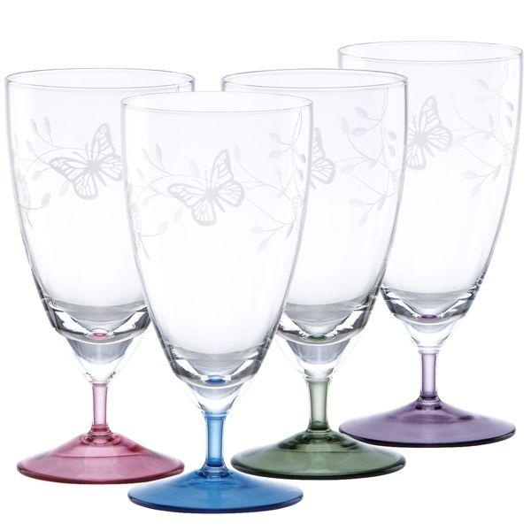 Butterfly Gold Drinking Glasses