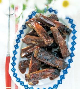 spareribs with cherry cola glaze this is my family s favorite bbq ribs ...