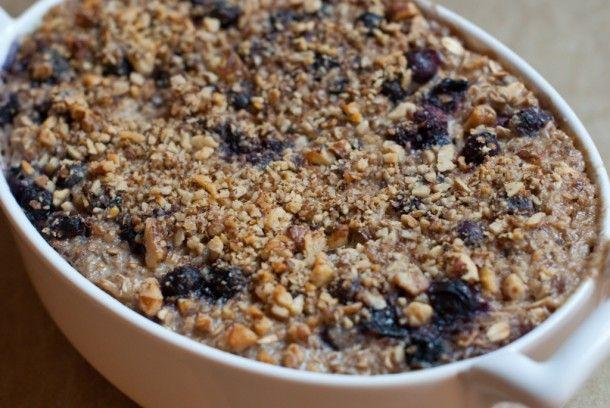 Baked Blueberry and Banana Oatmeal | Recipe
