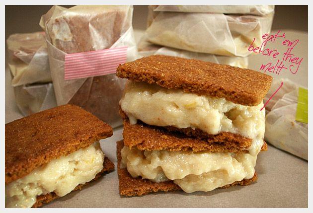 Vegan Graham Cracker Ice Cream Sandwiches: idea from Jessica Seienfeld ...