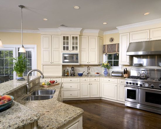 Cream and yellow Kitchen Design  Kitchen Makeover  Pinterest