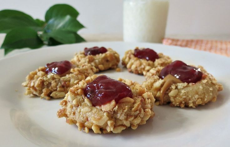 Peanut Butter & Jelly Thumbprints - A butter base cookie ...