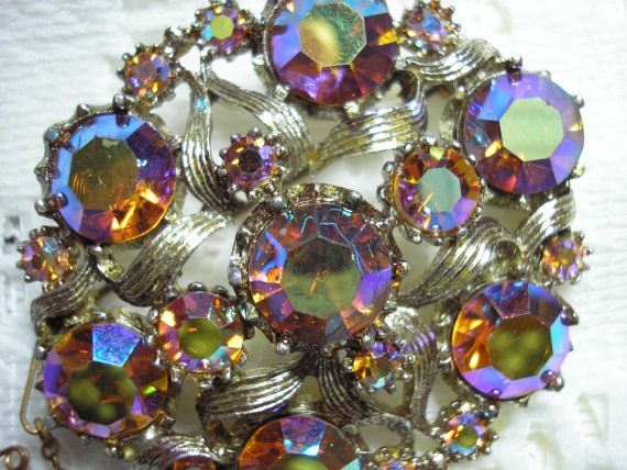 Gorgeous Multicolored Vintage Brooch by starsstore on Etsy, $20.00