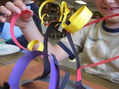paper sculpture project for kindergarten