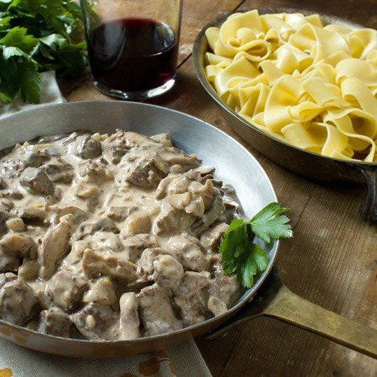 Recipe: Braised Beef Stroganoff with Pappardelle