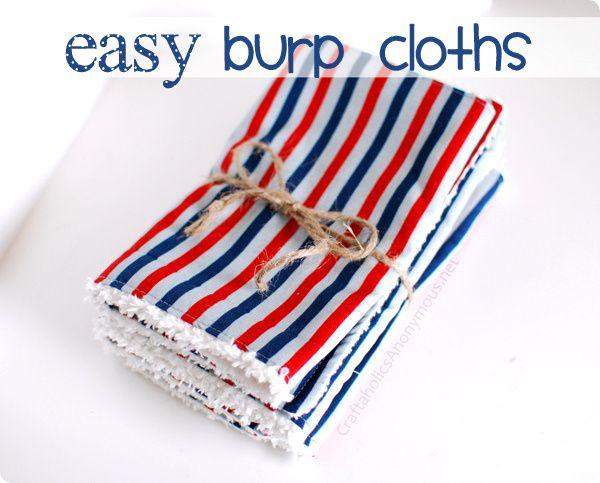 Easy Burp Cloths