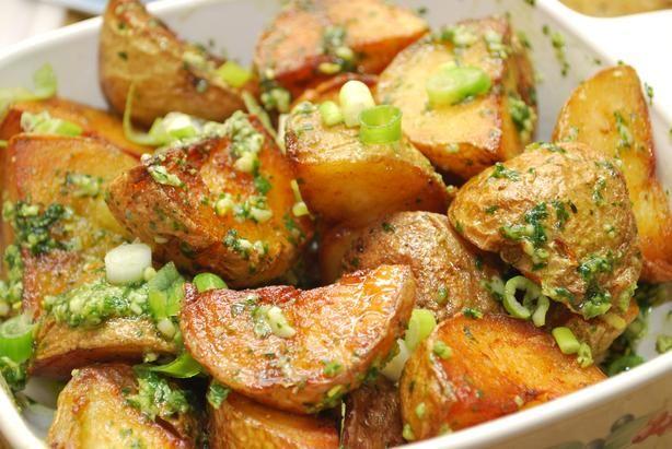 Skillet Crisp Pesto Potatoes W Scallions #SP5 Recipe - Food.com ...