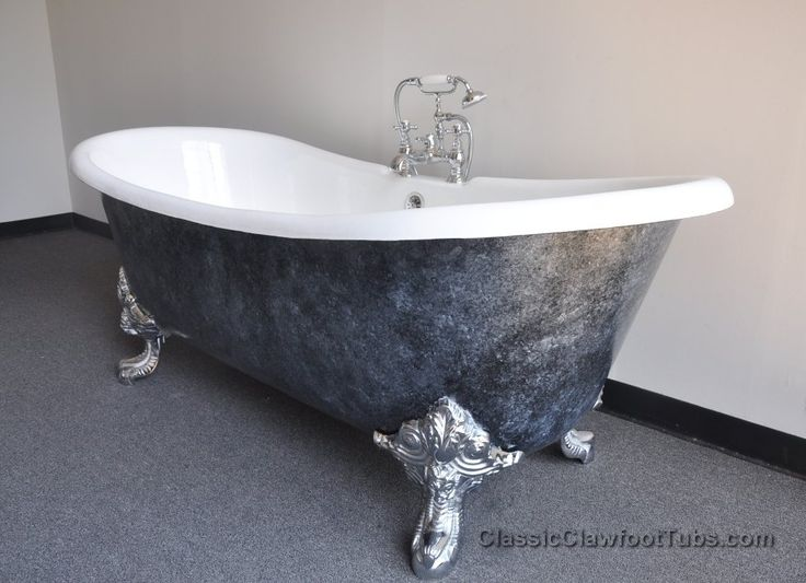 Pin by classic clawfoot tubs on clawfoot bathtubs pinterest - Painted clawfoot tub exterior pict ...