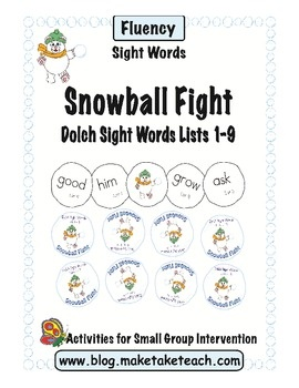 Kids love this winter-themed sight word game.  Great for practicing the Dolch 220 sight words.