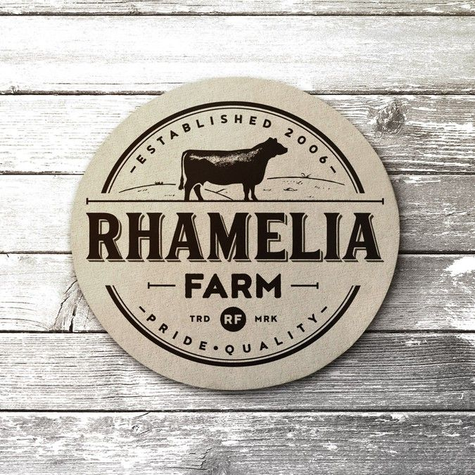 Cattle brand logo design