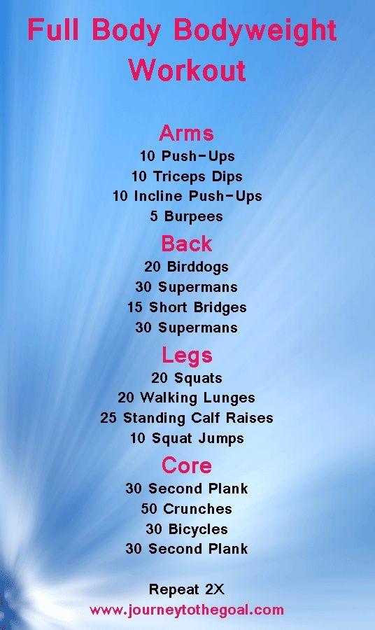 Killer Full Body Weight Routine Workouts Pinterest