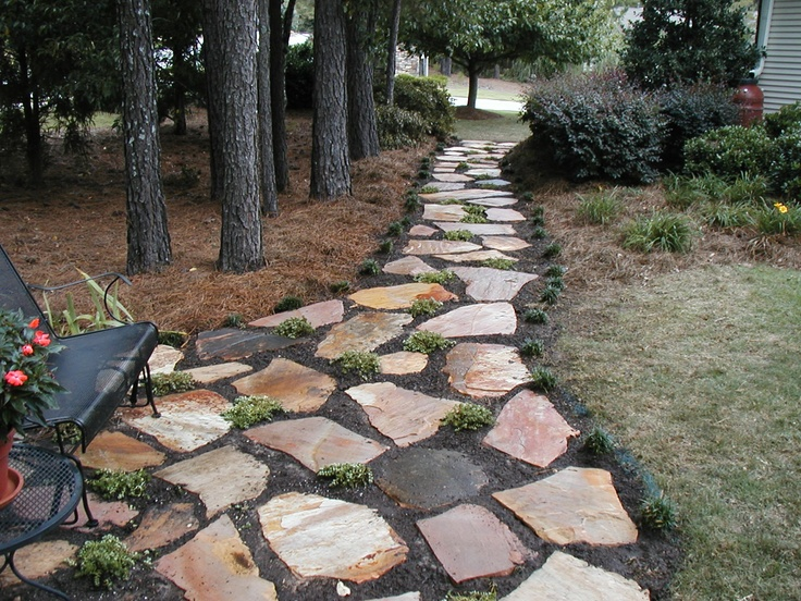 Flagstone Patios And Walkways : Flagstone walkway stone patios steps and walkways