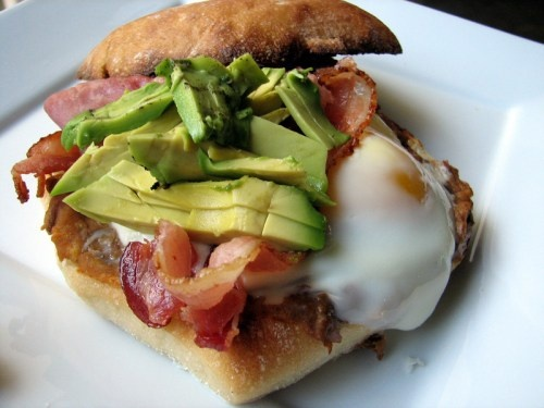 ... eggs crispy pork and beans torta mexican breakfast sandwich with eggs