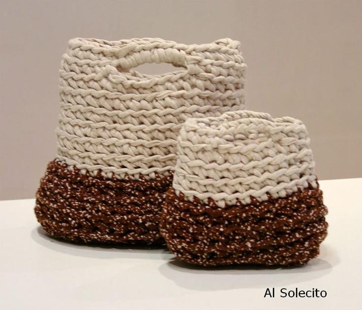 Crochet Work Bags : Bolsos de trapillo. Crochet bags. Mis trabajos - My work Pinterest