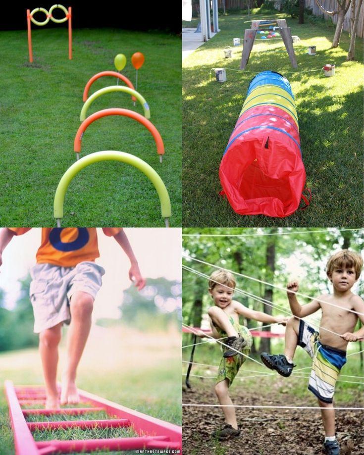 backyard obstacle course my boys pinterest