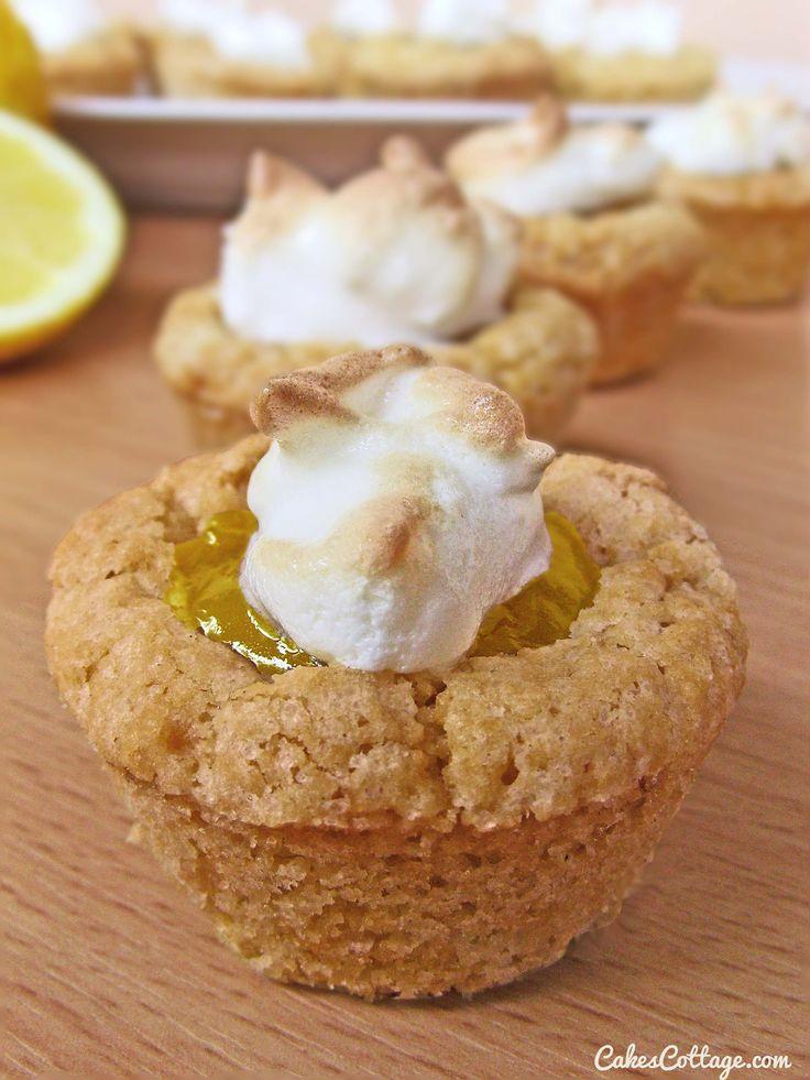 Lemon Meringue Cookie Cups - CakesCottage