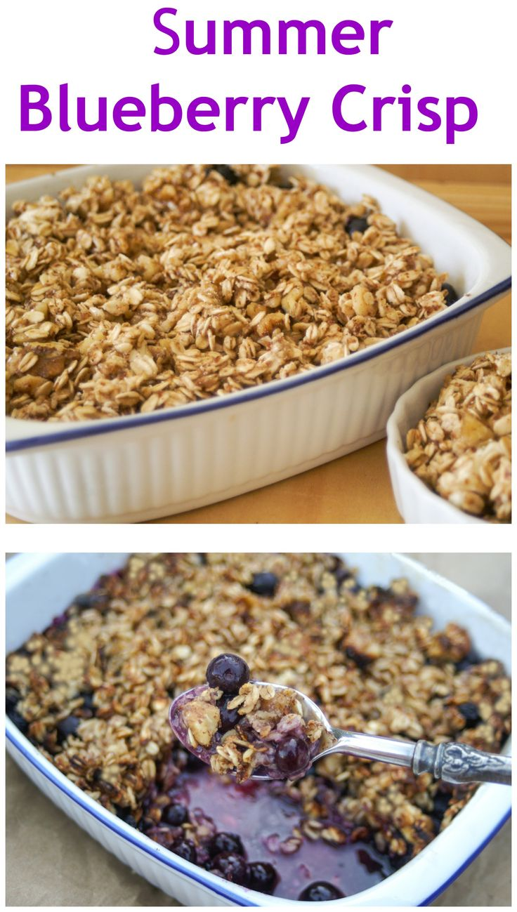 Summer Blueberry Crisp - This is a lovely, tart summer treat that is ...