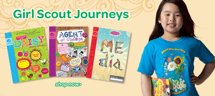 girl scout journeys gs leader resources pinterest