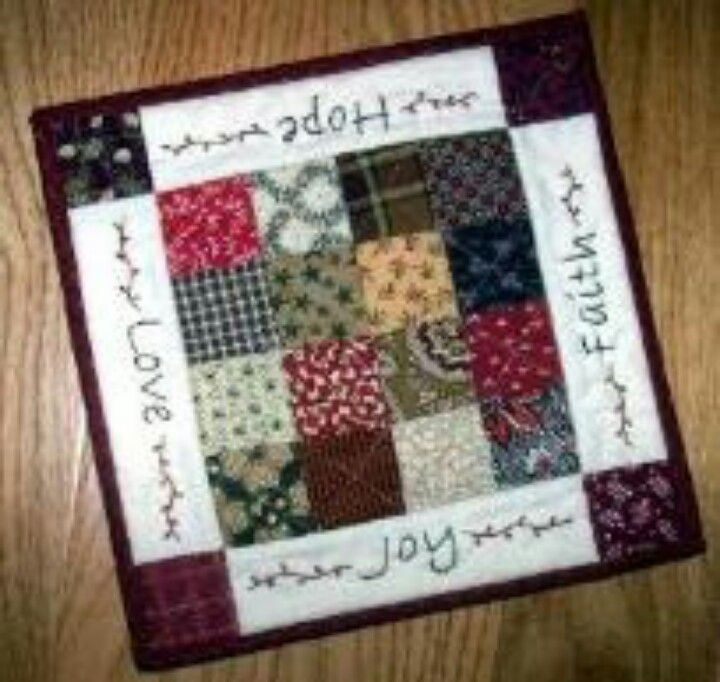 Mug Rug Pattern Quilts Pinterest