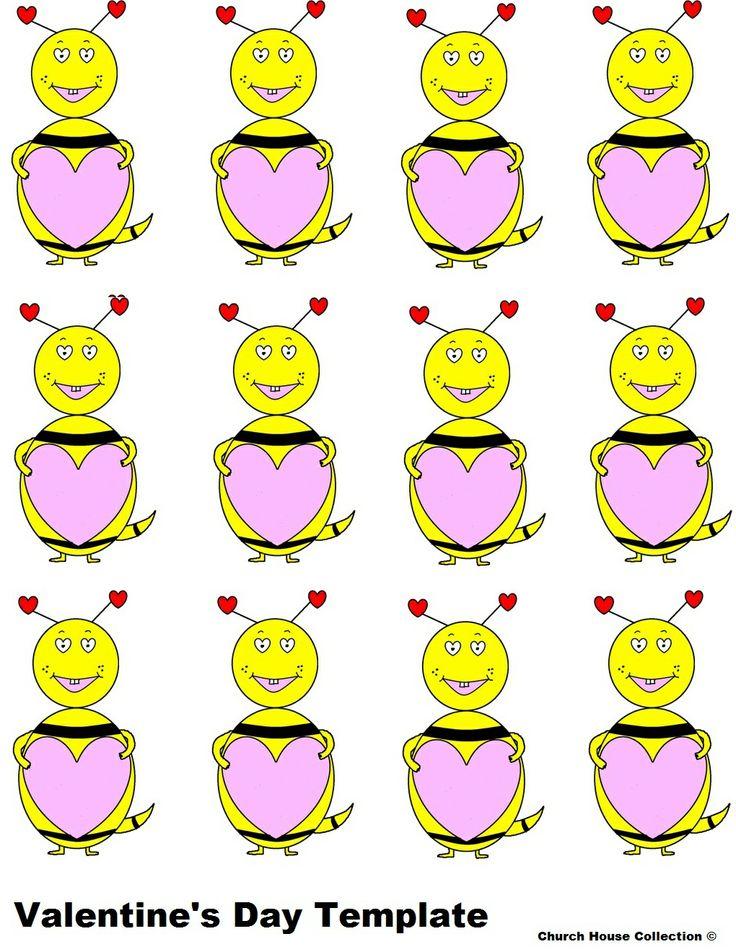 Blank love bug valentine printable | Valentine Ideas | Pinterest