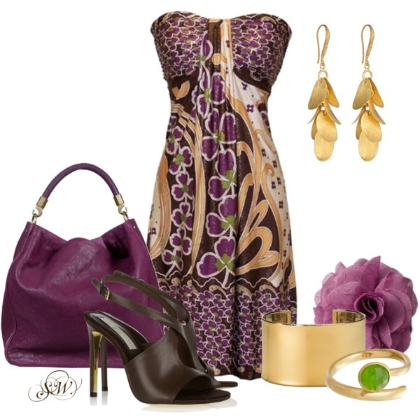 Plum & Gold, created by shannon-wachter on Polyvore