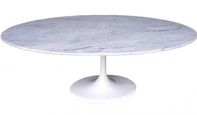 classics eero saarinen replica tulip marble oval dining table