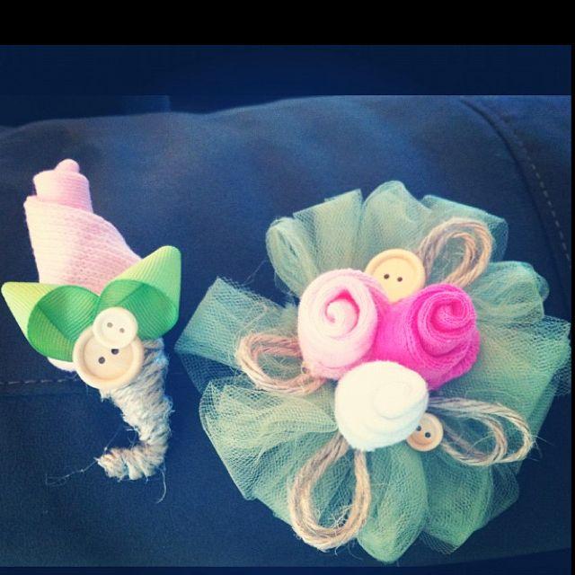 baby sock corsage diy baby shower corsage ideas pinterest
