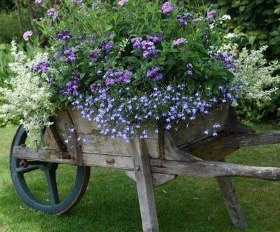 Wheelbarrow as container