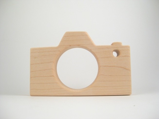 Camera Teething Toy Natural Baby Teether by woodworkingcrafts