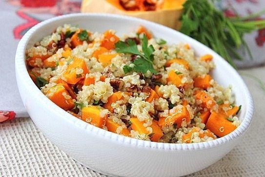 Quinoa with butternut squash, cranberries, pecans and orange maple ...