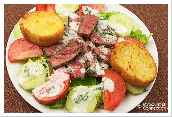 Grilled Steak Salad with Horseradish Ranch Dressing | Recipe