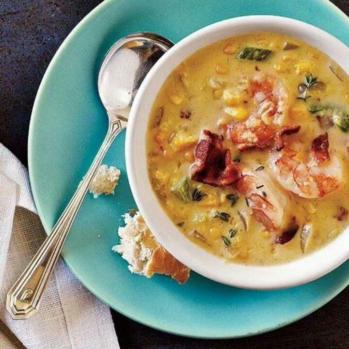 Bacon corn chowder with shrimp | Recipes I would like to try | Pinter ...