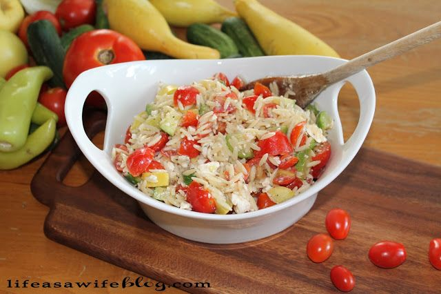 Tomato zucchini salad with orzo | Food for ME! | Pinterest