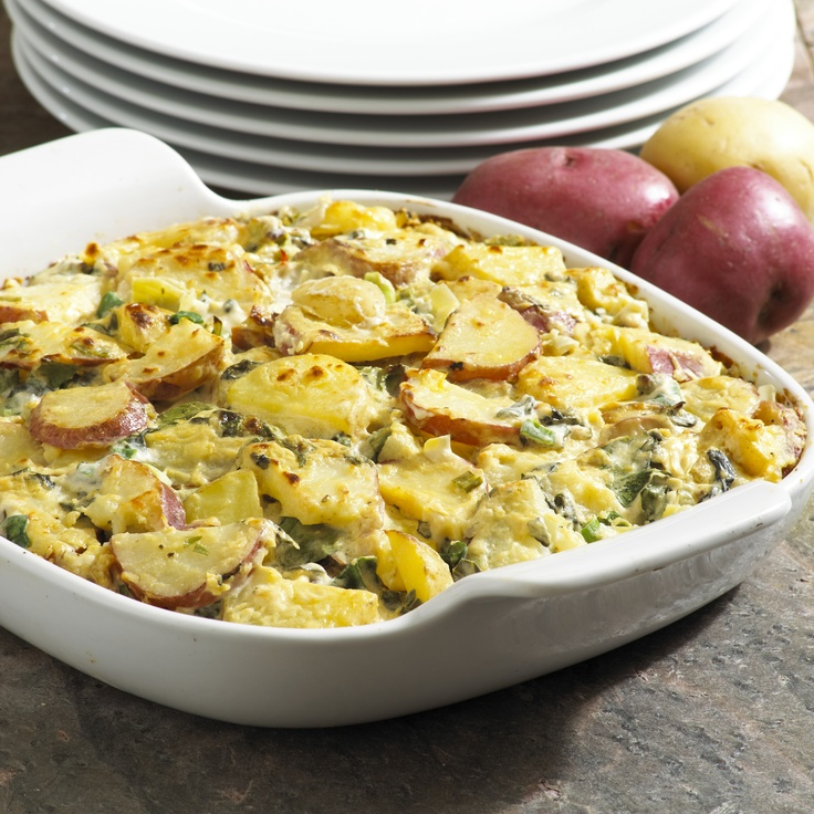 easy scalloped potatoes spinach artichoke scalloped potatoes recipe ...