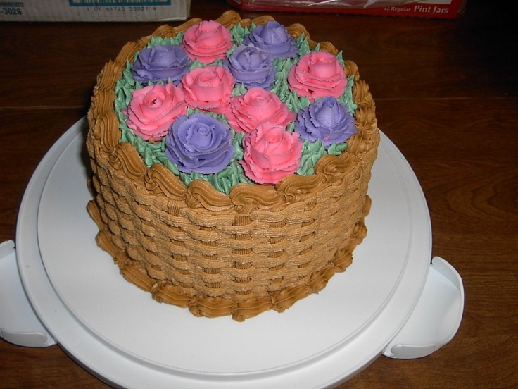 Flower Basket Mothers Day Cake : Mother s day cake i made this for it