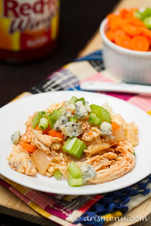 Buffalo Chicken Scramble: A bold and spicy protein-packed breakfast ...