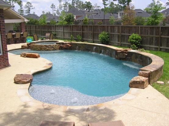 Best Backyard Family Pools : Family pool utilizing the backyard space  Custom Swimming Pools  Pi