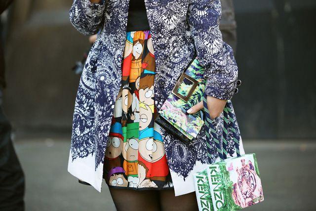 sacos, embreagens, Grazia, bolsas, MFW, Nam, PFW, Phil Oh, bolsas, estilo de rua, Tommy Ton, Vogue