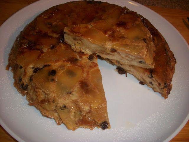 Budinca de paine cu mere caramelizate | Dulciuri | Pinterest