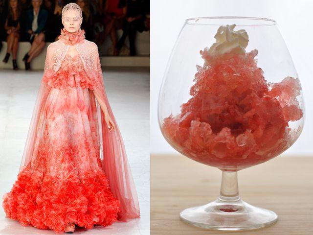 ... Runway - McQueen & Granatina di anguria, sciroppo di fragola e vodka
