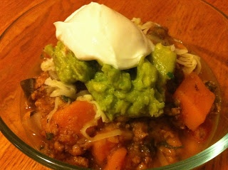 Turkey Chili Verde with Butternut Squash, Chickpeas–and KALE!